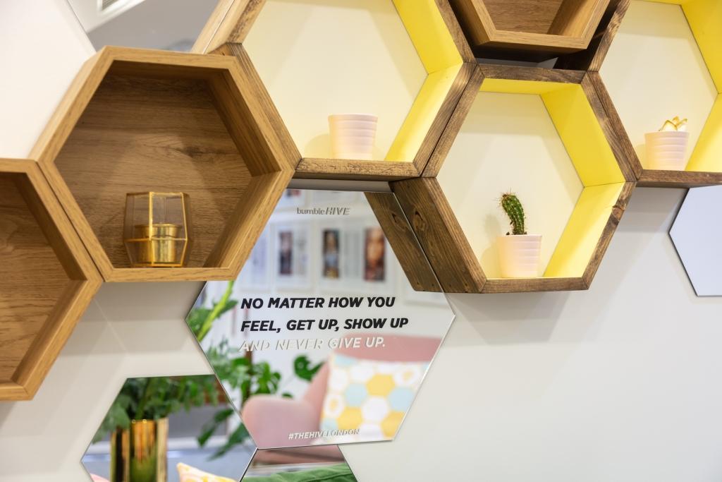 Bespoke Hive inspired shelving